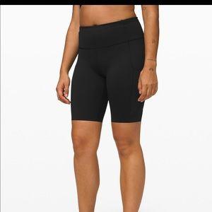 "Lululemon 10""fast and free bike shorts"